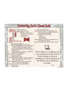 Interesting Facts About Jude - Bible Charts