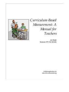 Curriculum-Based Measurement: A Manual for Teachers