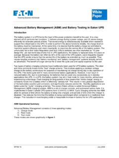 Advanced Battery Management (ABM) and Battery …