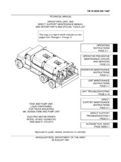 TECHNICAL MANUAL OPERATOR'S, UNIT, AND …