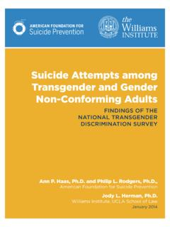 Suicide Attempts among Transgender and Gender Non ...