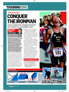 Peak performance CONQUER THE IRONMAN