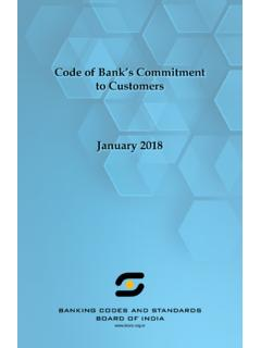 Code of Bank's Commitment to Customers January 2018