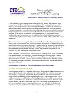 Teacher Leadership: Leading the Way to Effective Teaching ...