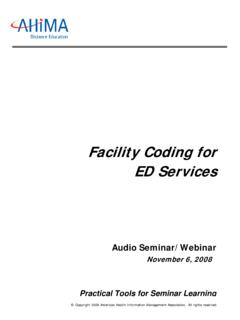 Facility Coding for ED Services - campus.ahima.org