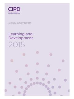 Learning and Development 2015 - CIPD