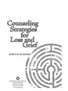 Counseling Strategies for Loss and GriefGrief