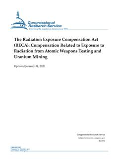 The Radiation Exposure Compensation Act (RECA ...