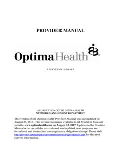 Claim Payment Reconsiderations - Optima Health