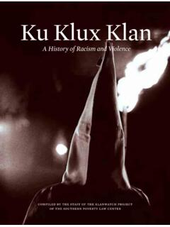 Ku Klux Klan - Southern Poverty Law Center