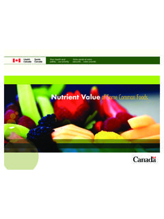 Nutrient Value of Some Common Foods - canada.ca