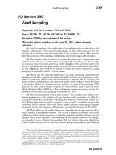 Audit Sampling - AICPA
