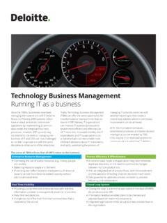 Technology business management - Deloitte US