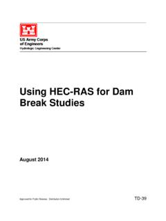 Using HEC-RAS for Dam Break Studies