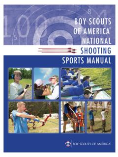 BOY SCOUTS OF AMERICA NATIONAL SHOOTING SPORTS MANUAL