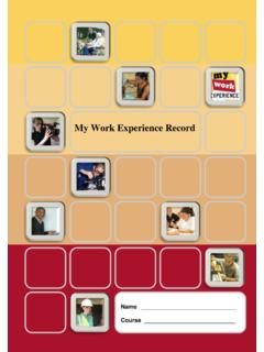 Record of my work placement - Work experience …