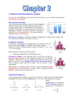 Continuous and discontinuous variation - …
