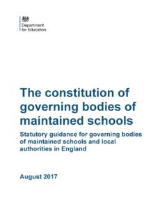 The constitution of governing bodies of maintained …