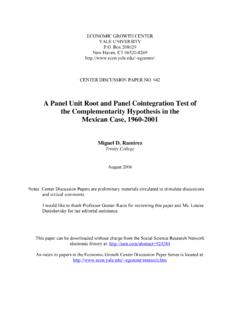 A Panel Unit Root and Panel Cointegration Test of …