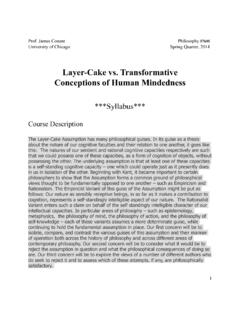 Layer-Cake vs. Transformative Conceptions of …