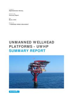 UNMANNED WELLHEAD PLATFORMS - UWHP …