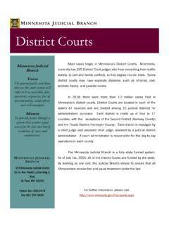 MINNESOTA JUDICIAL BRANCH District Courts