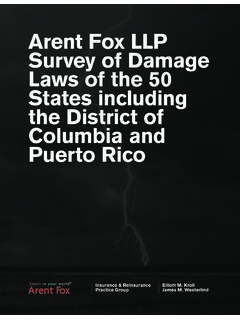 Arent Fox LLP Survey of Damage Laws of the 50 States ...