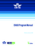 ISAGO Program Manual - IATA