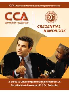 ICCA (The Institute of Certified Cost & Management ...