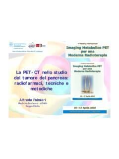 La PET-CT nello studio del tumore del pancreas ...