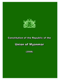Constitution of the Republic of the - Burma Library