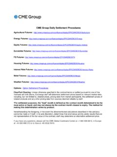 CME Group Daily Settlement Procedures