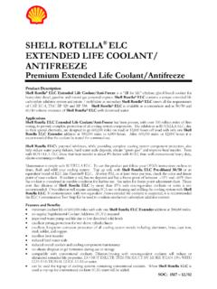 ROTELLA ELC EXTENDED LIFE COOLANT SYSTEM