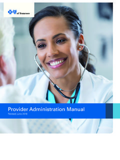 Provider Administration Manual - Health Insurance