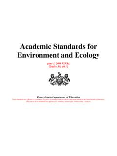 Academic Standards for Environment and Ecology - …