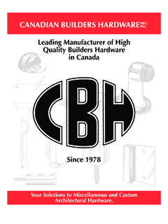 Leading Manufacturer of High Quality Builders Hardware in ...