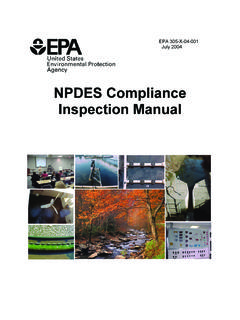NPDES Compliance Inspection Manual - US EPA