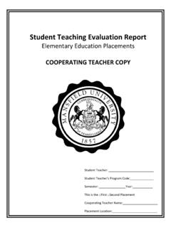 Student Teaching Evaluation Report