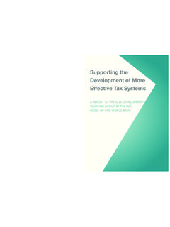 Supporting the Development of More Effective Tax …