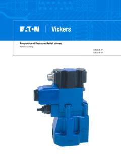 Proportional Pressure Relief Valves - Eaton
