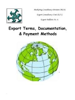 Export Terms, Documentation, & Payment Methods