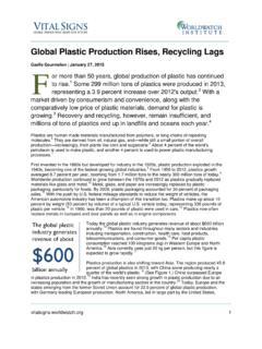 Global Plastic Production Rises, Recycling Lags