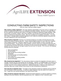 CONDUCTING FARM SAFETY INSPECTIONS
