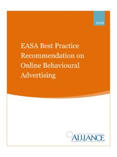 EASA Best Practice Recommendation on Online …