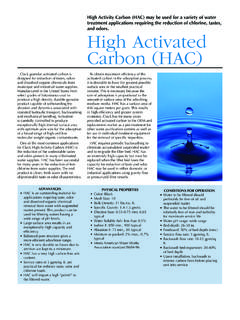 High Activated Carbon (HAC)