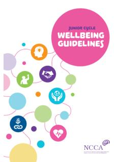 Junior Cycle Wellbeing Guidelines - NCCA