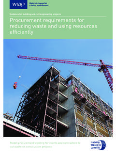 Guidance for building and civil engineering projects ...