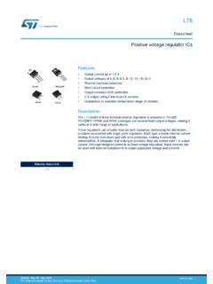 Datasheet - L78 - Positive voltage regulator ICs - …