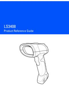 Symbol LS3408 Product Reference Guide (p/n 72E-67133 …
