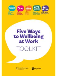 Five Ways to Wellbeing at Work TOOLKIT
